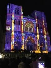 Cathédrale St Maurice illuminée décembre 2019